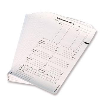 Registrierpapier Tymp SAT 20 und HMT 23 einseitig bedruckt (100 Blatt)