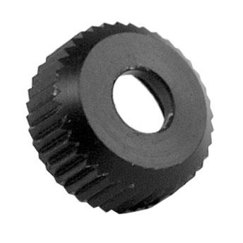 Rändelschraube schwarz für Echoscreen