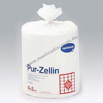 PUR Zellin, Zellstofftupfer 4 x 5 cm,  steril 500 St.