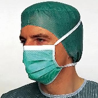 OP-Maske, Foliodress mask Perfect grün 50 St.