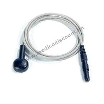 Elektrodenkabel mit Druckknopfanschluß, 60cm schwarz mit Steckbuchse