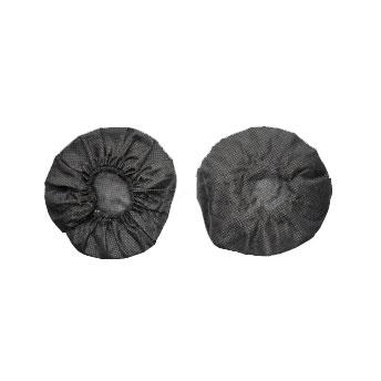 Hygieneschutz für Kopfhörer bis ca. 11 cm oder oval bis ca. 11x8 cm Durchmesser schwarz  VE= 100 St.